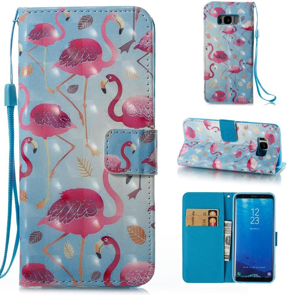 Firefish Galaxy S8 Wallet Case, Shockproof Protective Case Leather Wallet Cover with Credit Card Slot Magnetic Closure Cash Pocket [Folio Flip] Wallet Case Cover for Samsung Galaxy S8 (5.8 Inch)