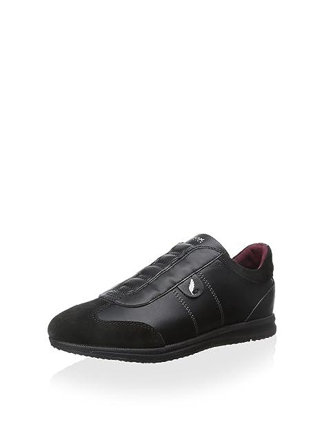 Geox Damen D Avery Sneaker, schwarz, 41 EU: