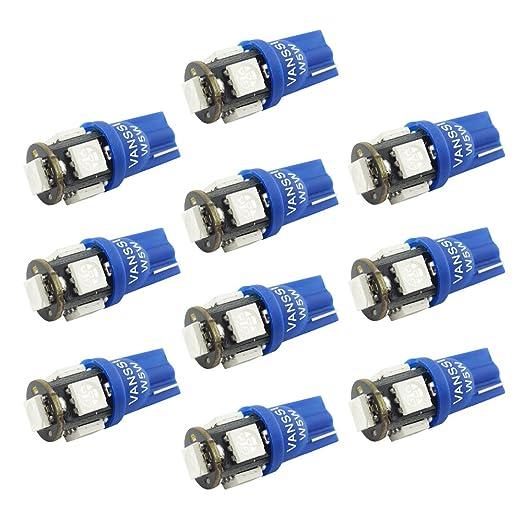 7 opinioni per VANSSI 501 W5W T10 5 SMD 5050 LED blu Interno di automobile, targa, Boot