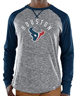 Majestic Houston Texans NFL Full Out Blitz Men s Long Sleeve Gray Slub Shirt cacaa44fd