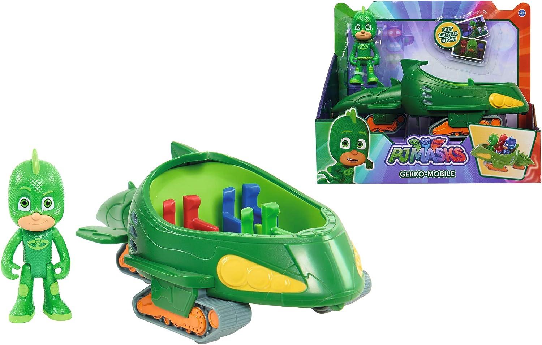 Simba 109402085 – PJ Máscaras Gecko con geckomobil, colores surtidos