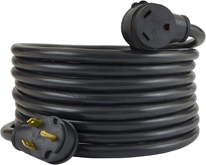Conntek 14363, 30 Amp RV Extension Cord, Black (25-Feet)