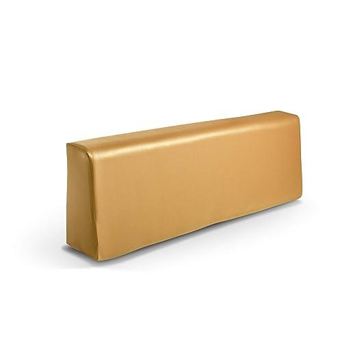 Respaldo colchoneta para sofas de palet color Mostaza (1 x Unidad) Cojin relleno con espuma | Cojines para chill out, interior y exterior, jardin | No ...