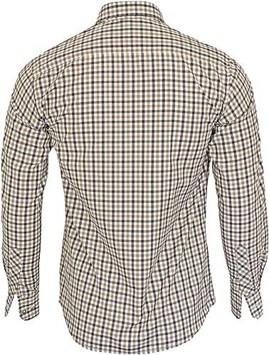 Maddox Camisa a cuadros para hombre Patrik – Marrón Negro ...