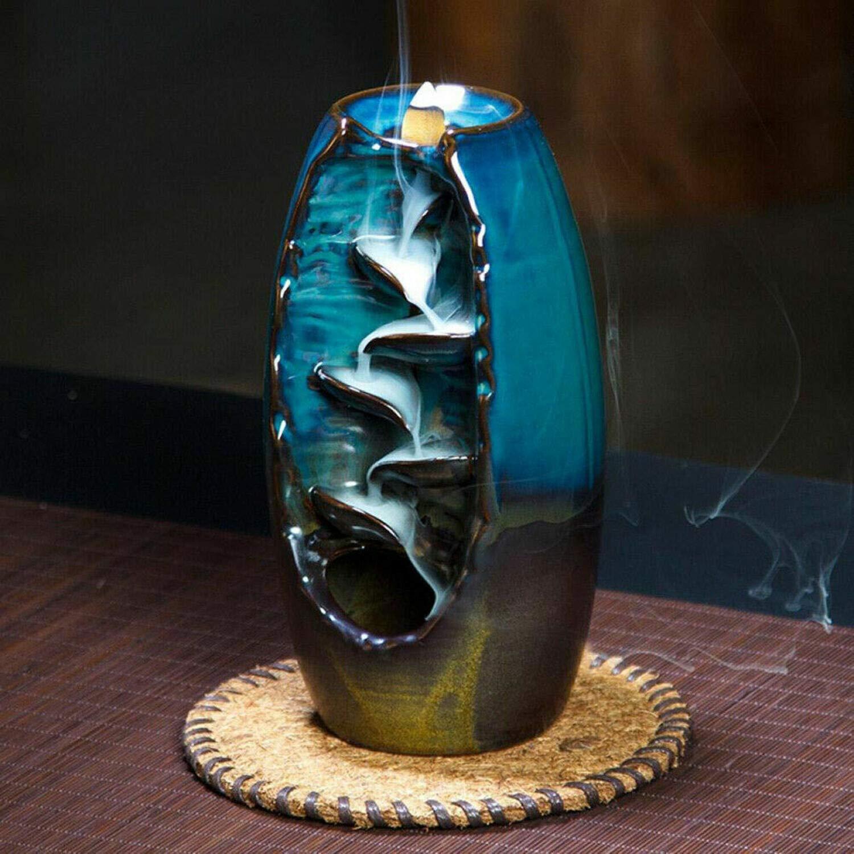2019 Mountain River Handicraft Incense Holder Backflow Ceramic Burner Censer Holder by Beette (Image #2)