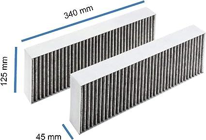 AllSpares - Filtro de carbón activo para Bora BAKFS/BIU/BHU/BFIU (2 unidades): Amazon.es: Grandes electrodomésticos