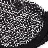 Deyllo Women's Sexy Lace Bra Mesh Underwire See