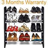 KPM™ Easy to Assemble & Light Weight 4 Shelves Shoe Rack