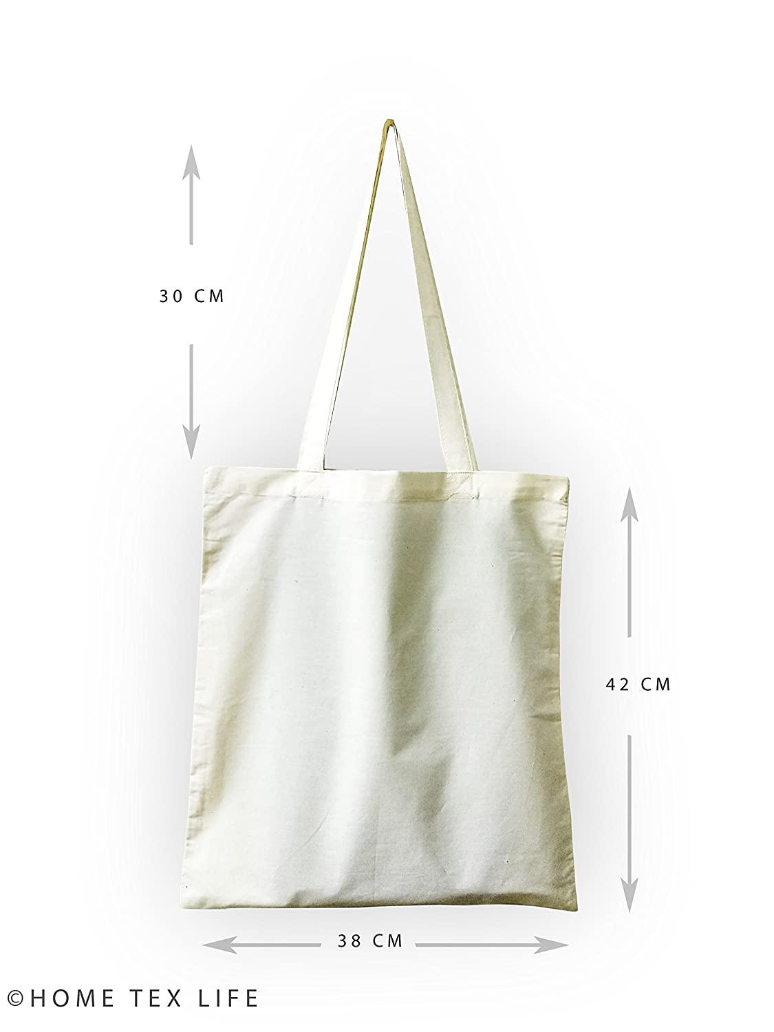 9d581d21e Home TEx LIfe Off-White Plain Cotton Bags (Pack of 10): Amazon.in: Bags,  Wallets & Luggage