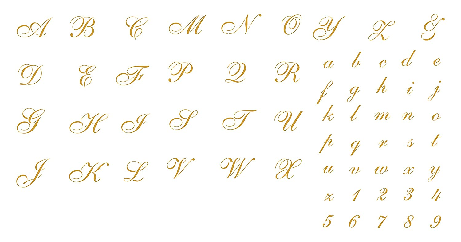 photo regarding Printable Cursive Letter Stencils named 1½\