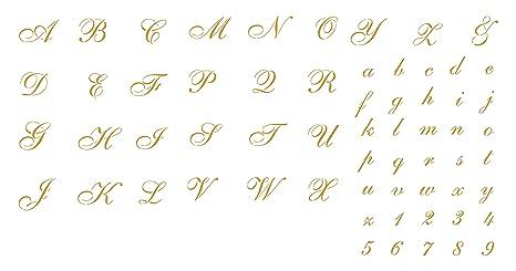 Amazon Com Cursive Letter Stencils 1 3x Sheet 8 X 12 Reusable