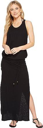 dffc2d0b21 Vitamin A Swimwear Women's Island Maxi Cover-Up Eco Cotton Black Small