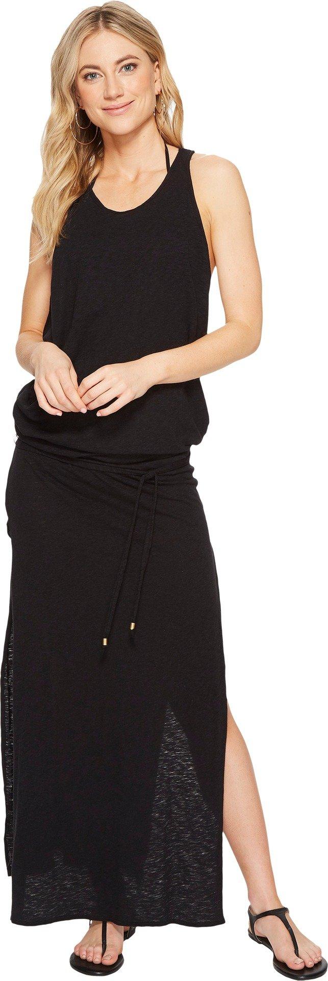 Vitamin A Swimwear Women's Island Maxi Cover-Up Eco Cotton Black Medium