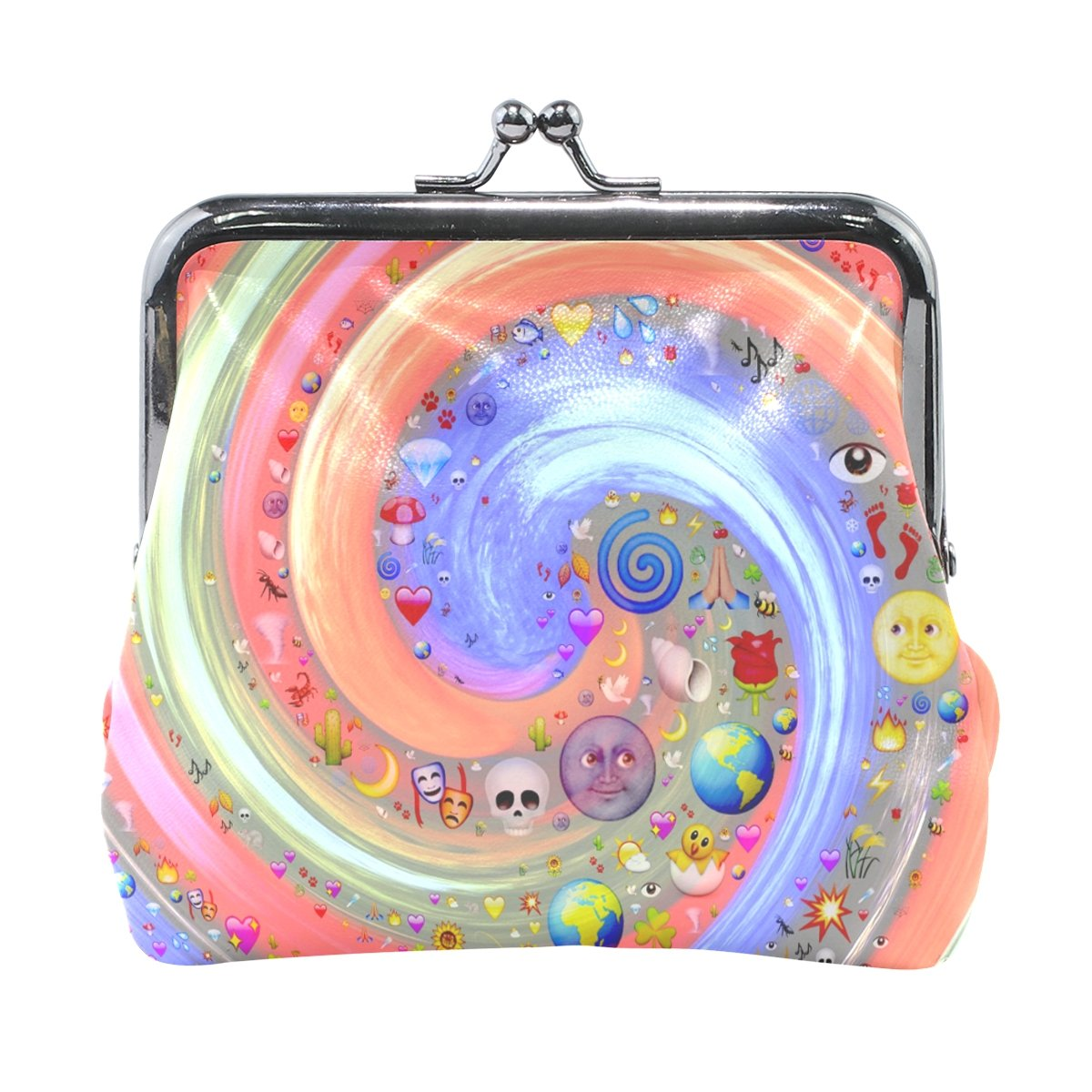 Coin Purse Emoticons Vortex Wallet Buckle Clutch Handbag For Women Girls Gift