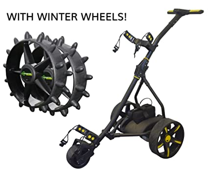 Carro de golf eléctrico, Black & Yellow (Winter Bundle)