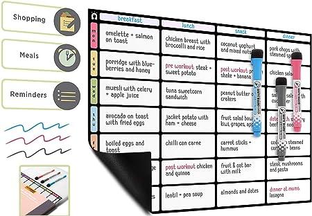 1 X Nouveau Live hebdomadaire Magnétique Réfrigérateur Planner /& Shopping List alimentation, Board repas