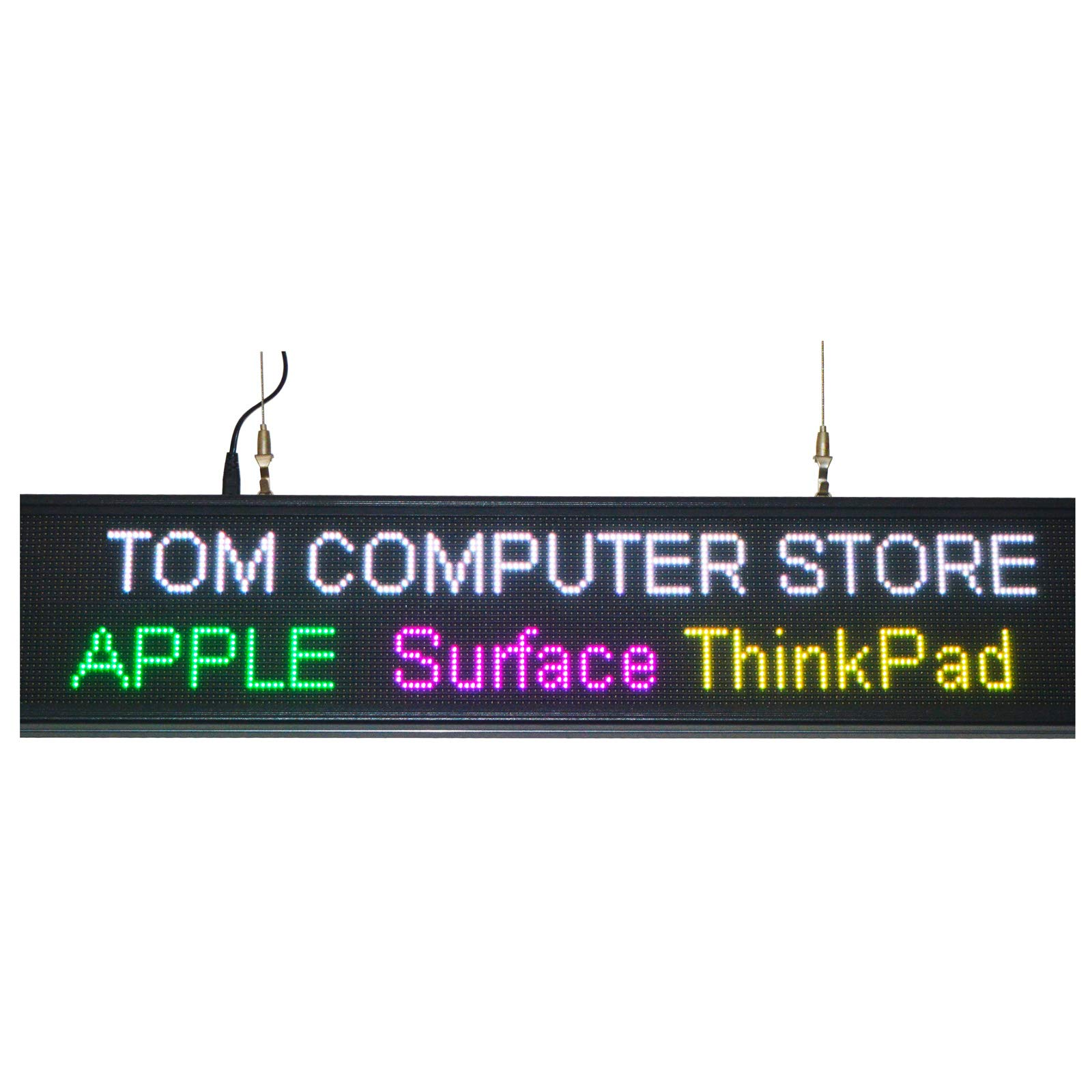 39''x7.6'' Programmable LED Sign for Store P5 Rainbow Scrolling Words WiFi Upload