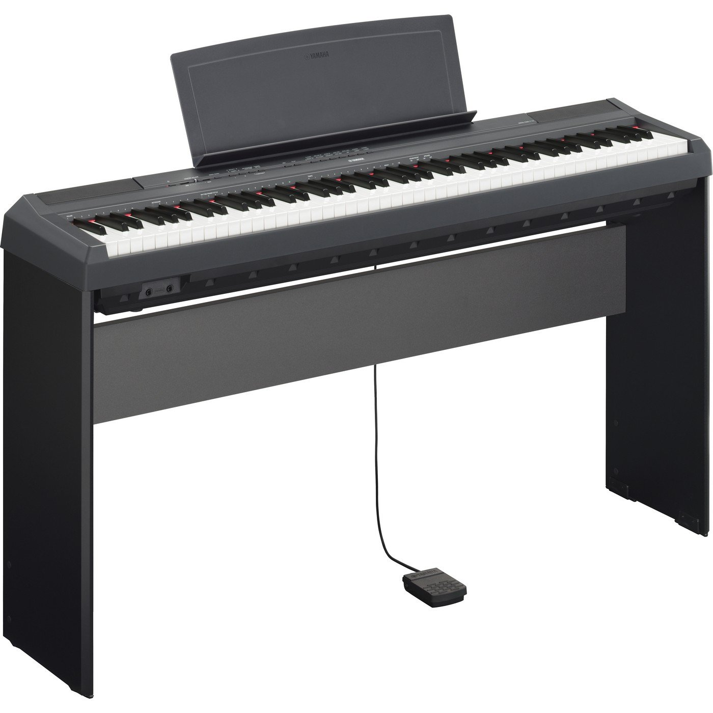 Yamaha P115B Bundle | 88 Key Digital Piano Black L85 Keyboard Stand Bundle by Yamaha