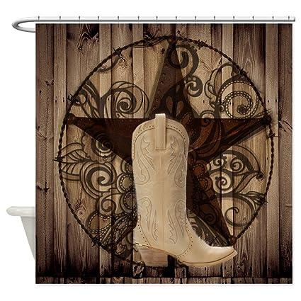 Amazon CafePress Cute Western Cowgirl Shower Curtain Decorative
