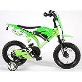 Vélo Enfants Motobike 12 Pouces avec Roues de Stabilisation Frein Arriére à Rétropédalage Vert 3 4 5 Ans