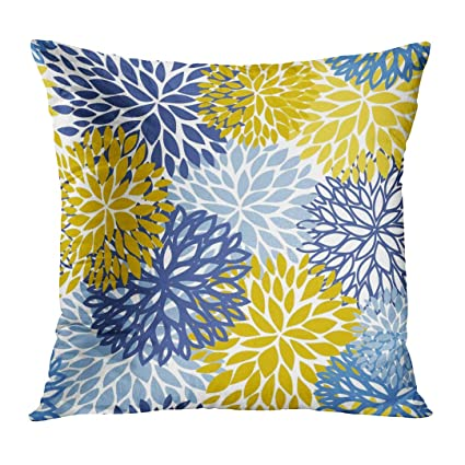 Amazoncom Tomkeys Throw Pillow Cover Green Grey Spring Flower Blue