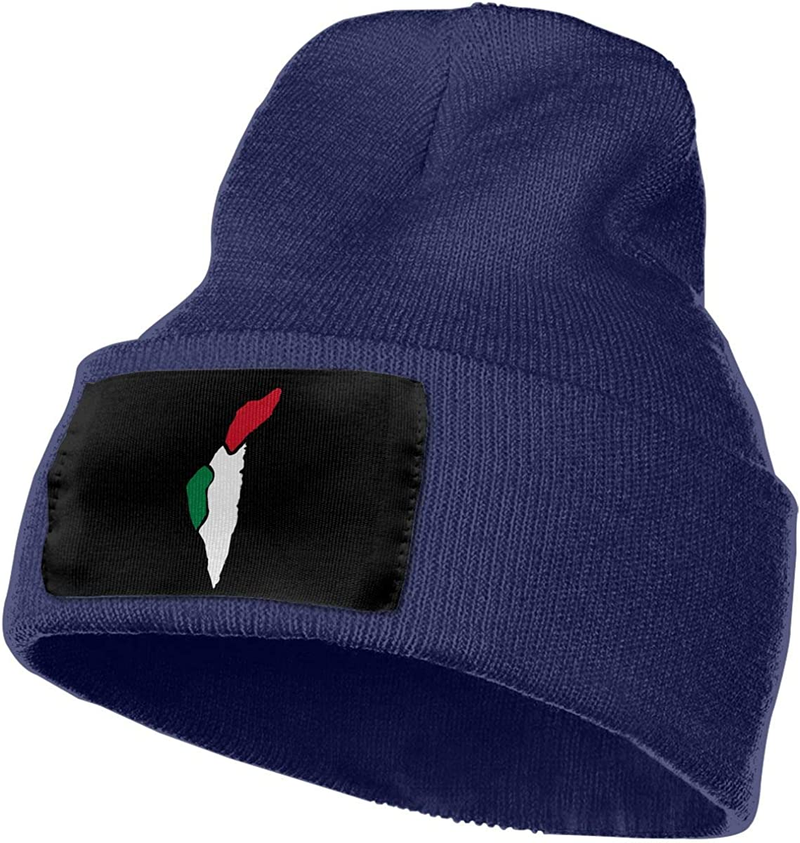 TAOMAP89 Summer Flag Map of Palestine Women and Men Skull Caps Winter Warm Stretchy Knit Beanie Hats