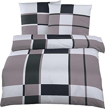 Kühle Mako Satin Bettwäsche In Der übergröße 200 X 220 Cm Grau