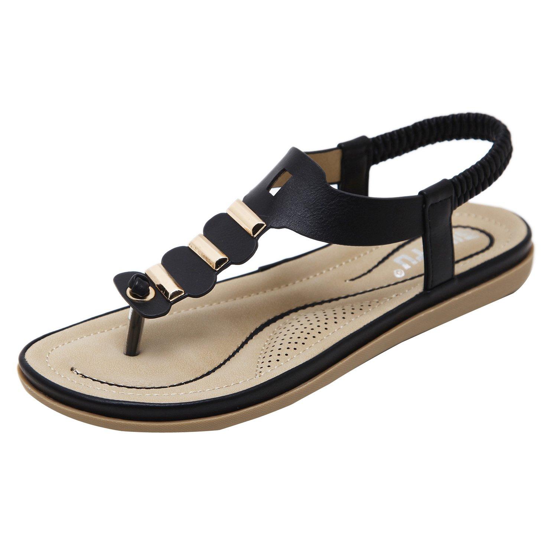 ZAMME CNPSHOE164 Damen Zehentrenner Schwarz2018 Letztes Modell  Mode Schuhe Billig Online-Verkauf