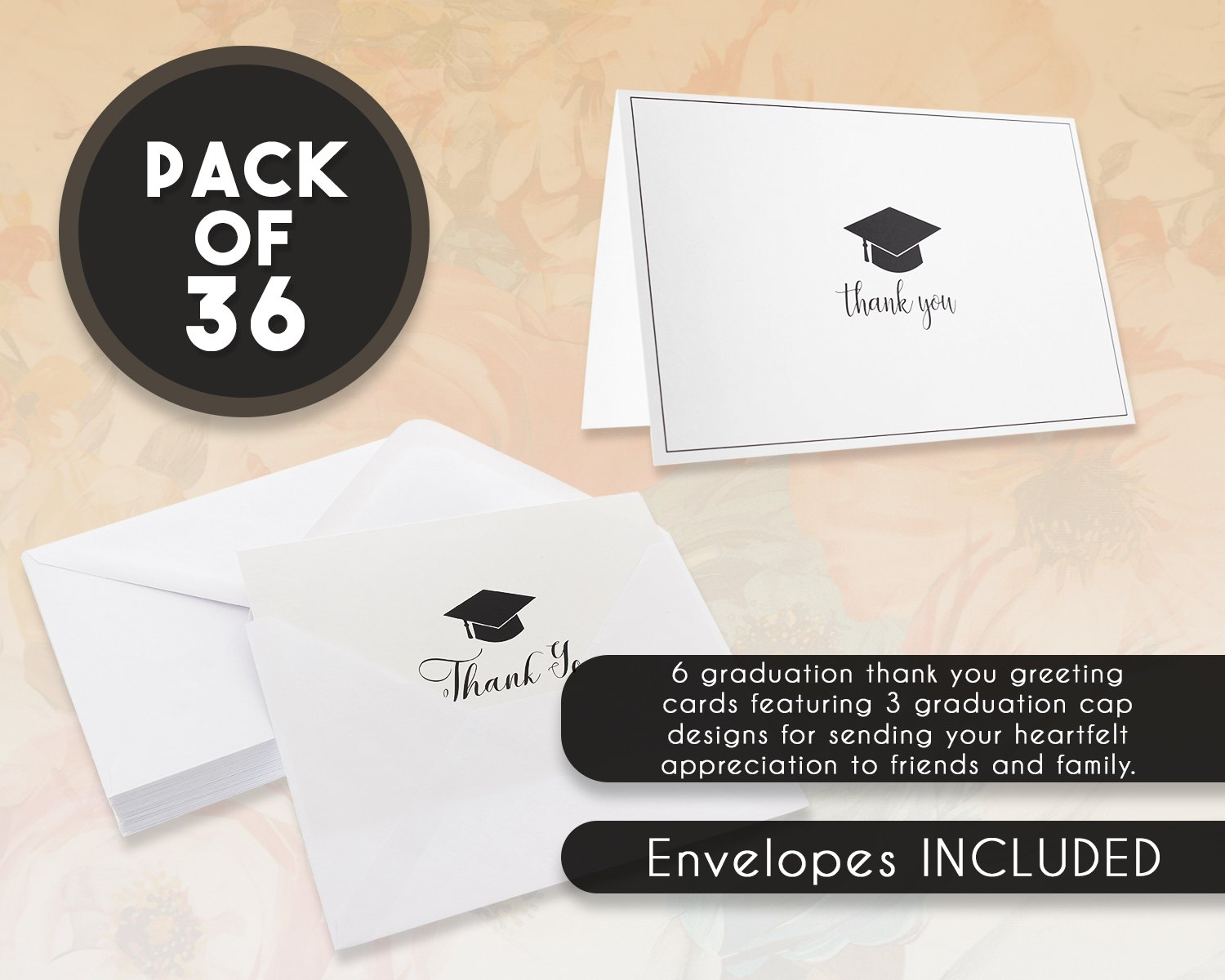 Amazon 36 Pack Graduation Thank You Cards Thank You Greeting