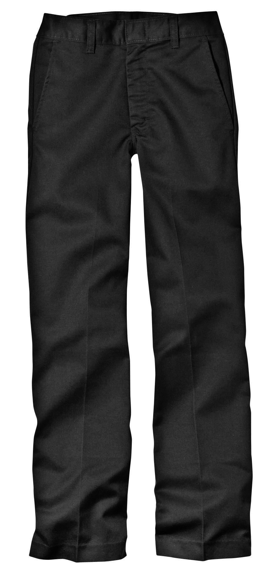 Dickies Husky Boys Flat Front Pant, Black, 20 Husky / 35.5'' x 31'' by dickies