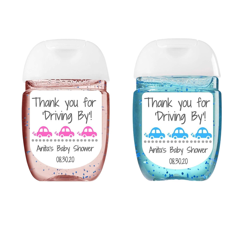 Custom Hand Sanitizer Label Set of 20 Baby Shower Bridal Shower Favor Sticker Personalized wedding sanitizer bottle stickers
