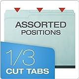 "Pendaflex 1"" Expansion Pressboard File Folders with 1/3 Cut Tab, Letter, Blue, 25/Box"