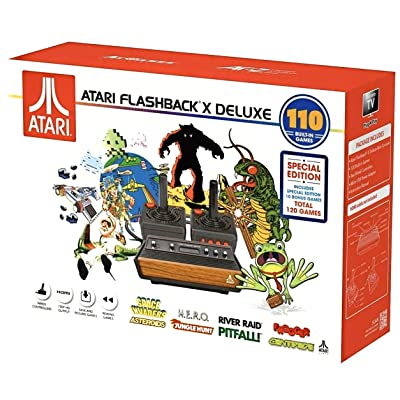 Atari Flashback X Deluxe Retro Console 120 Built-in Games - 2 Wired Controllers - HD HDMI - Plug n Play: Toys & Games