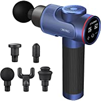 Massage Gun, Portable Deep Tissue Percussion Massager Muscle Massager for Athletes, Speeds for Pain Relief and…