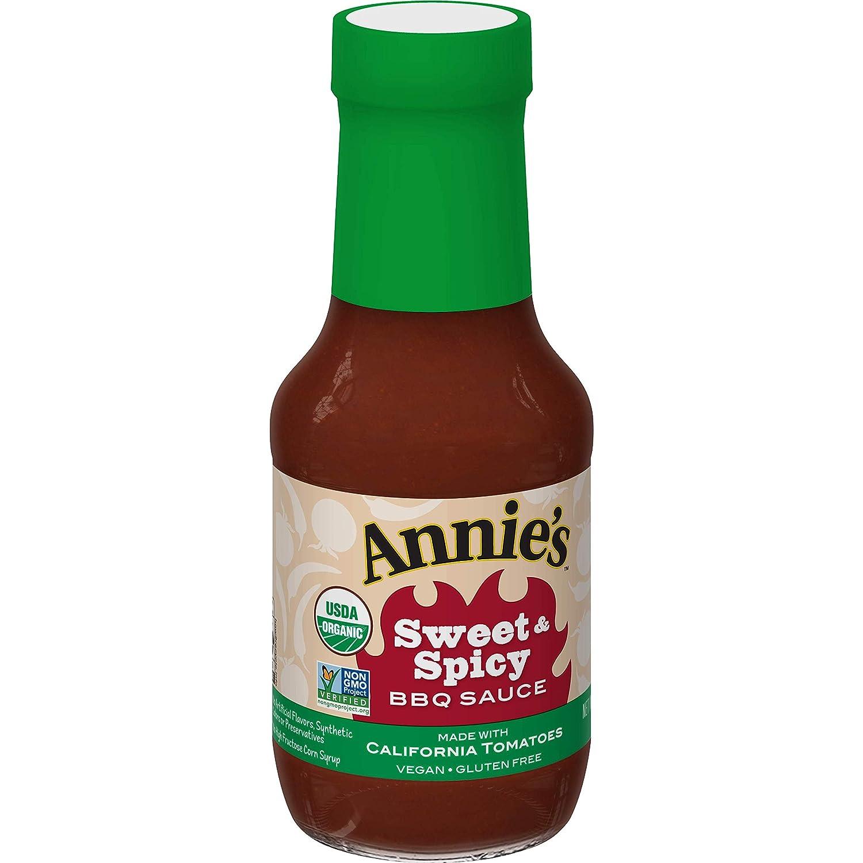 Annie's Sweet & Spicy BBQ Sauce, Certified Organic, Vegan, Gluten Free, 12 oz