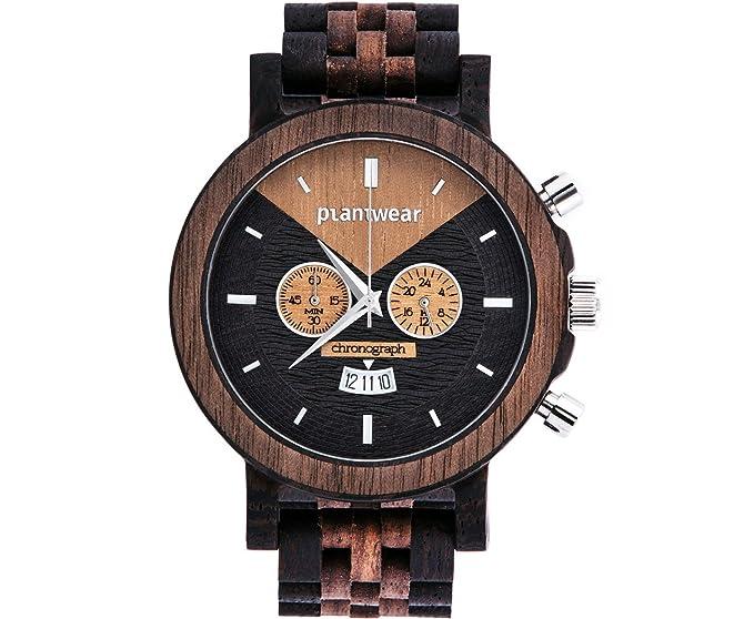 Madera Reloj - Select Series - Cronógrafo - 54 mm - plantwear: Amazon.es: Relojes