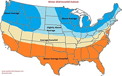 Amazoncom Laminated Map Weather Willy S The 2018 Winter - Snowfall-map-us
