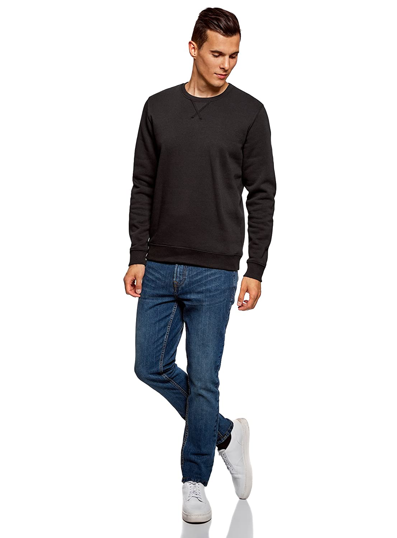 oodji Ultra Homme Sweat-Shirt Basique /à Col Rond