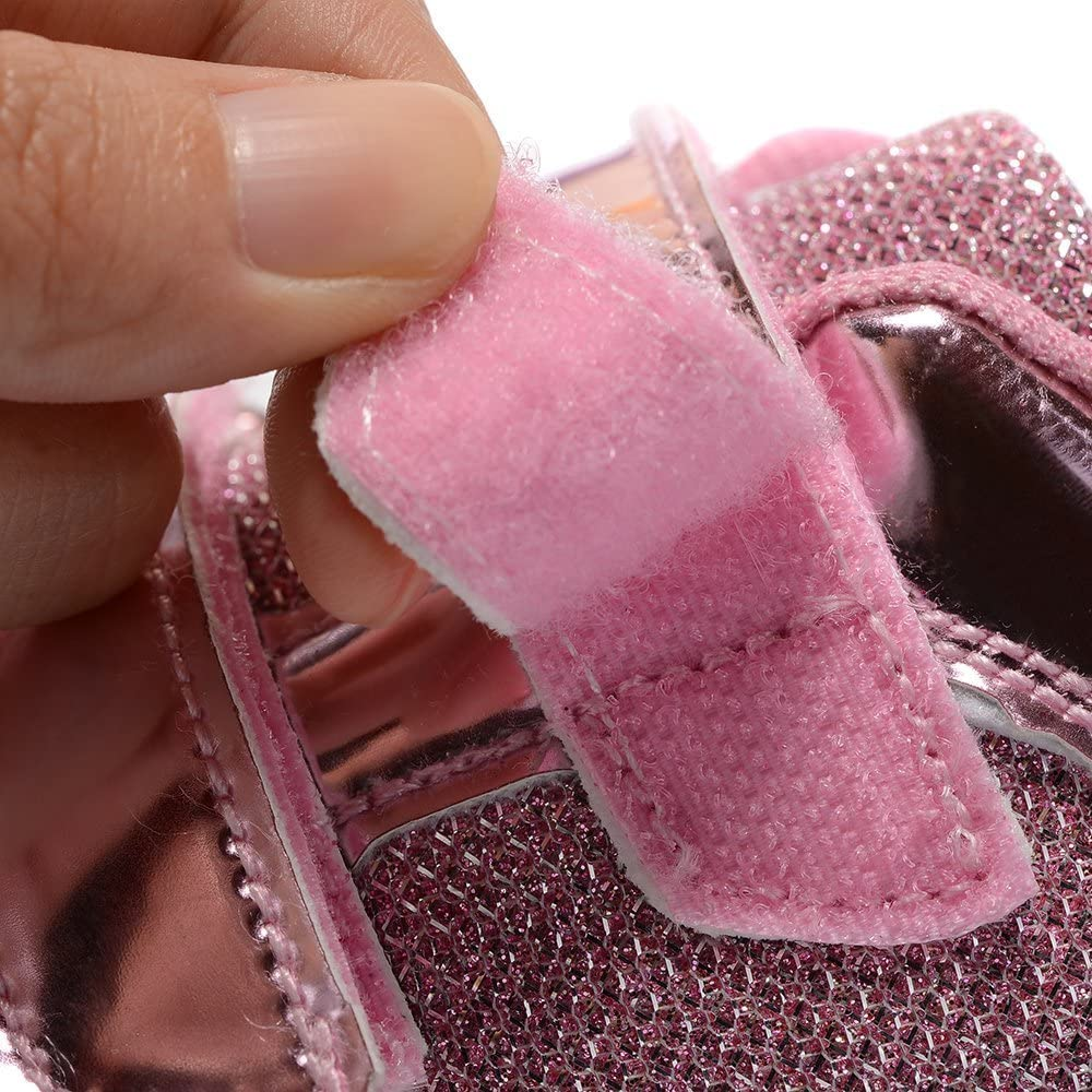 xiaoyang Kids Fashion Breathable LED Light Up Shoes Flashing Sneakers for Girls Boys Pink Light - 25 M EU // 9 M US Toddler