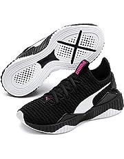 PUMA Kids DEFY JR Sneaker, Black White