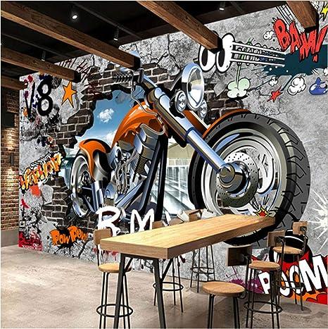 3 Laque Mural Personnalisé Personnalisation Moto Street Art Graffiti Papier Peint