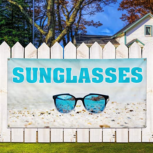 Amazon.com: Vinyl Banner - Gafas de sol con diseño de ...