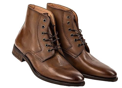 609137068732a Replay Zapatos de Cuero de Los Hombres