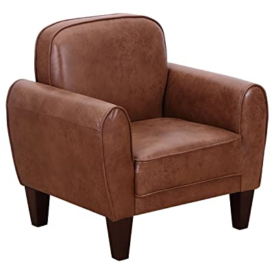 Amazon.com: Kinfine USA Inc. HomePop Youth Leatherette Club Chair ...