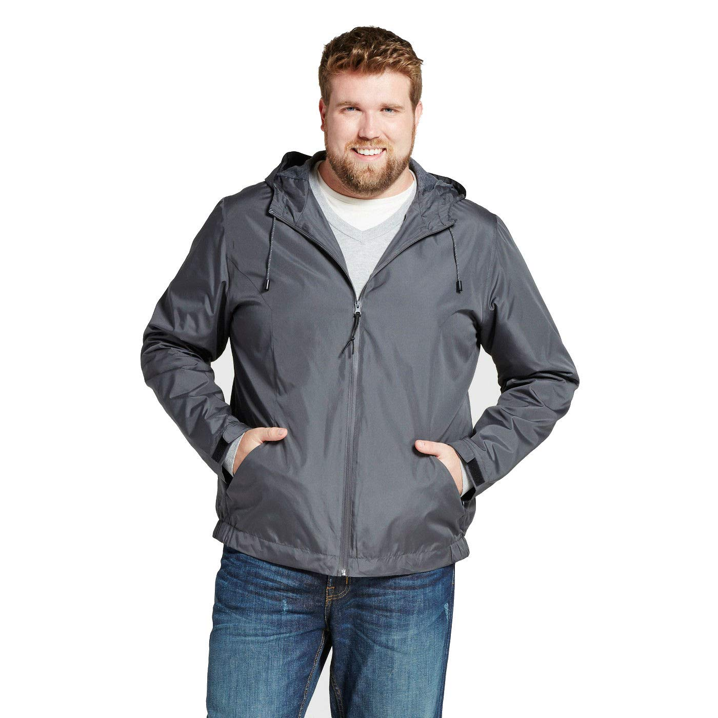 72baea1f596 Goodfellow & Co Men's Big & Tall Standard Fit Windbreaker Jacket at ...