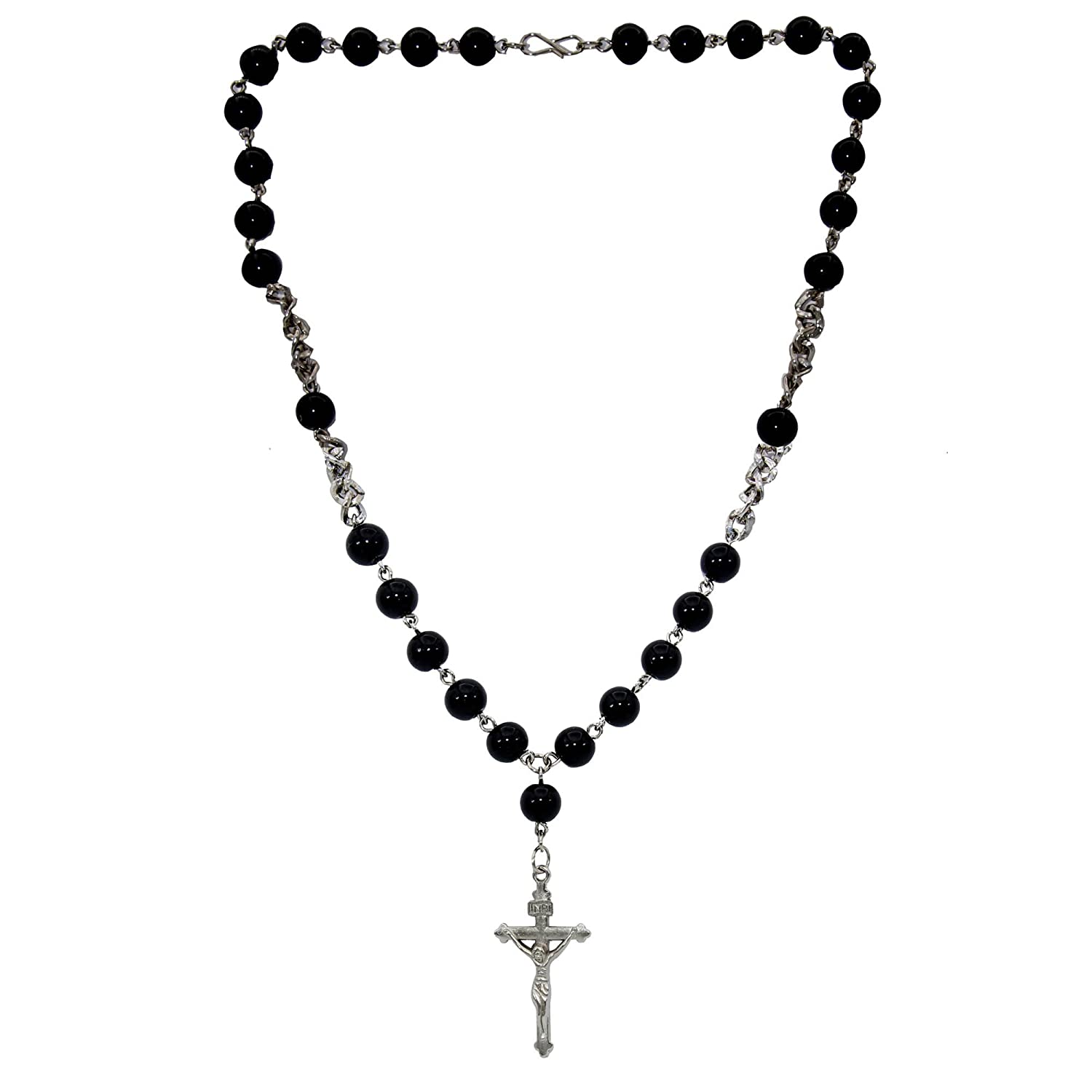 sterling shop rosary silver decade jewelry necklace five beads catholic prayer traditional sil
