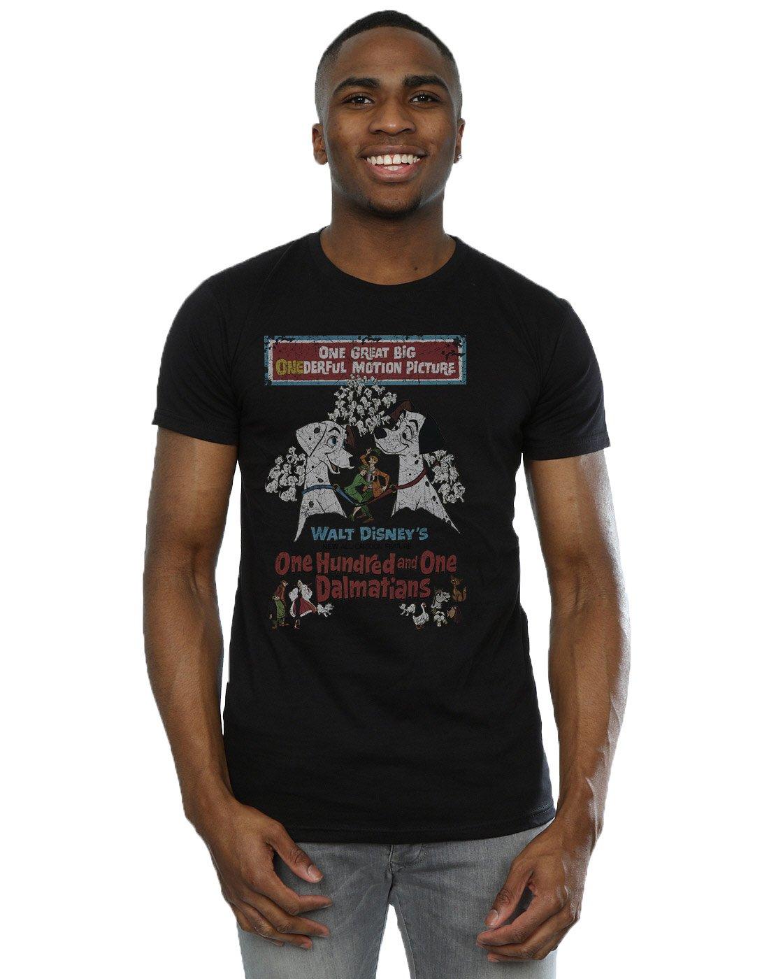 Disney S 101 Dalmatians Retro Poster Tshirt