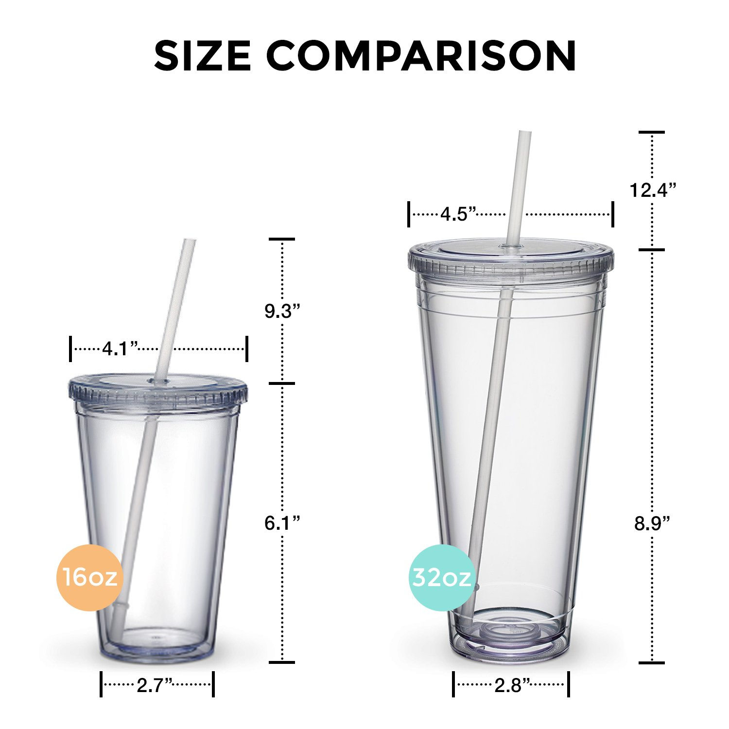 Maars Classic Insulated Tumblers 16 oz. | Double Wall Acrylic | 4 pack by Maars® Drinkware (Image #6)