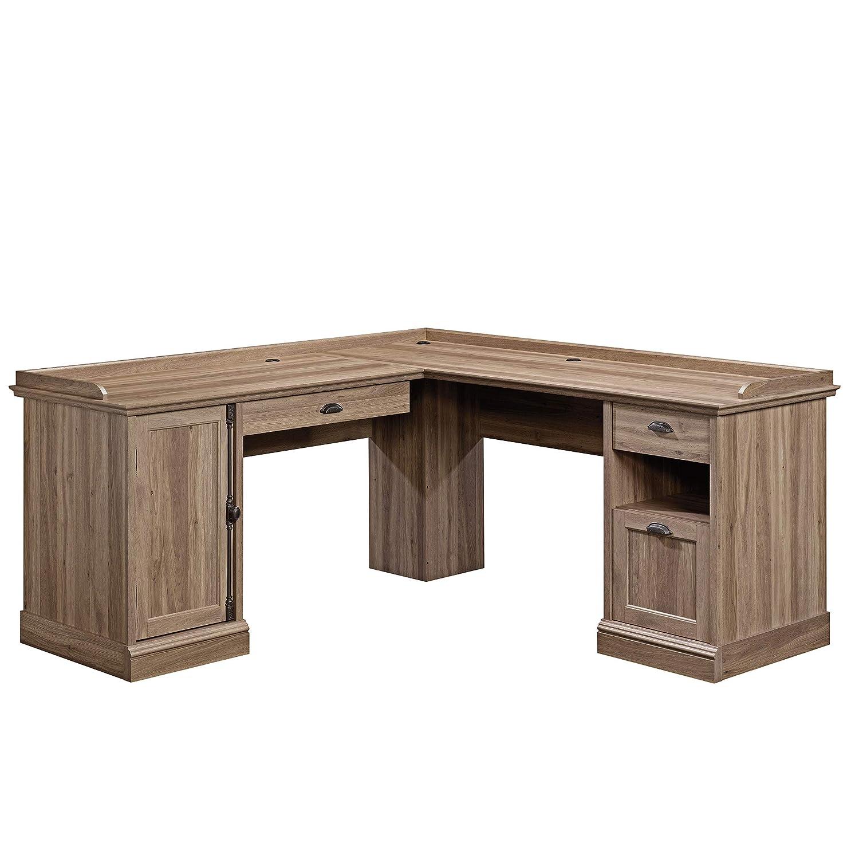 Sauder Barrister Lane L-Desk, L 68.90 x W 68.90 x H 31.85 , Salt Oak finish