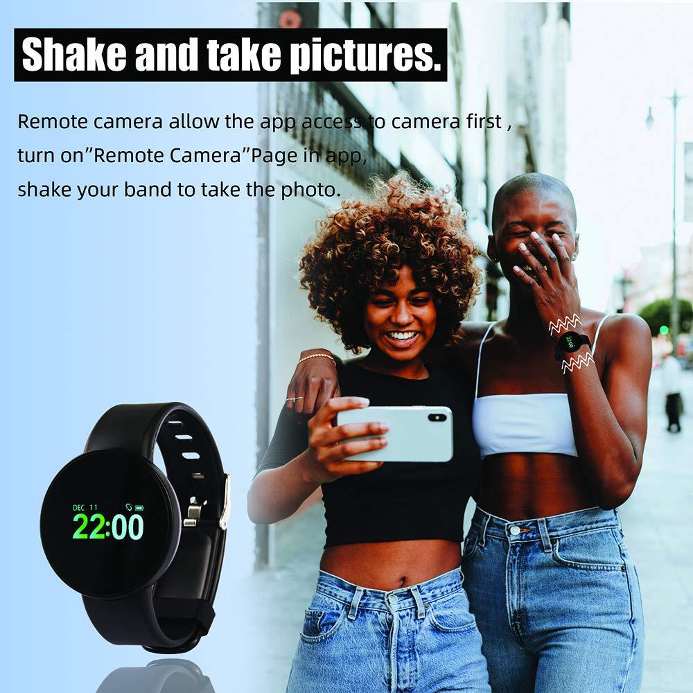 Smart Uhr Fitness Tracker, IP67 wasserdichte Sportuhr Aktivitäts- Herzfrequenz Blutdruck Schlafmonitor Schrittzähler Bluetooth Armband Uhr Kompatibel mit iOS Android für Männer und Frauen